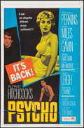 """Movie Posters:Hitchcock, Psycho (Paramount, R-1965). One Sheet (27"""" X 41"""") & Pressbook (12.25"""" X 15""""). Hitchcock.. ... (Total: 2 Items)"""