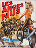 """Movie Posters:Exploitation, Naked Angels (Alpha France, 1970). French Affiche (22.5"""" X 30.25""""). Exploitation.. ..."""