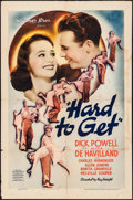 "Movie Posters:Romance, Hard to Get (Warner Brothers, 1938). One Sheet (27"" X 41"").Romance.. ..."