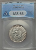 1938-S 50C Arkansas MS66 ANACS. NGC Census: (47/5). PCGS Population: (92/4). CDN: $825 Whsle. Bid for problem-free NGC/P...