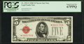 Fr. 1531* $5 1928F Narrow Legal Tender Note. PCGS Superb Gem New 67PPQ
