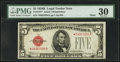 Small Size:Legal Tender Notes, Fr. 1527* $5 1928B Mule Legal Tender Note. PMG Very Fine 30.. ...