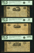Obsoletes By State:Ohio, Cincinnati, OH - Lot of 3 Farmers & Mechanics Bank ofCincinnati Harrison Engraved Issued Notes.. ... (Total: 3 notes)