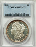 Morgan Dollars: , 1883 $1 MS63 Deep Mirror Prooflike PCGS. PCGS Population: (256/382). NGC Census: (110/181). CDN: $275 Whsle. Bid for proble...