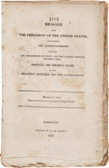Books:Americana & American History, [James Monroe]. Message from the President of the UnitedStates,...