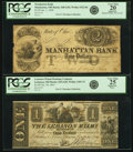 Obsoletes By State:Ohio, Ohio - Lot of 2 Classically Engraved Hard Times Era Banknotes.. ...(Total: 2 notes)
