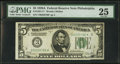 Small Size:Federal Reserve Notes, Fr. 1951-C* $5 1928A Federal Reserve Note. PMG Very Fine 25.. ...