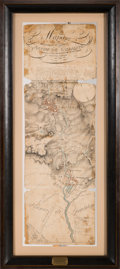 Miscellaneous:Maps, Battle of Zacatecas Presentation Map Captured from Antonio Lopez deSanta Anna at San Jacinto....