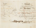 Miscellaneous, Texas. The Colorado and Red River Land Company Stock Certificate....