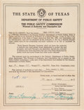 Miscellaneous, Texas Ranger Captain Frank A. Hamer's Warrant of Authority....