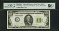 Small Size:Federal Reserve Notes, Fr. 2152-B $100 1934 Light Green Seal Federal Reserve Note. PMG Gem Uncirculated 66 EPQ.. ...