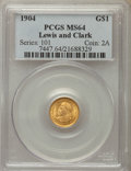 Commemorative Gold, 1904 G$1 Lewis and Clark Gold Dollar MS64 PCGS. PCGS Population:(640/522). NGC Census: (398/313). CDN: $1,700 Whsle. Bid f...