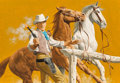 Mainstream Illustration, Stanley Borack (American, 1927-1993). Outlaw Crew: The BestBandit, paperback cover, 1991. Gouache on board. 12 x 17.5 i...(Total: 2 Items)