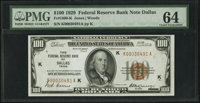 Fr. 1890-K $100 1929 Federal Reserve Bank Note. PMG Choice Uncirculated 64