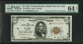 Fr. 1850-H $5 1929 Federal Reserve Bank Note. PMG Choice Uncirculated 64 EPQ