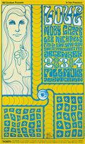 Music Memorabilia:Posters, Love Fillmore Auditorium Concert Poster BG-40 Signed By Wes Wilson(Bill Graham, 1966)....