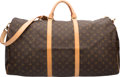 """Luxury Accessories:Travel/Trunks, Louis Vuitton Classic Monogram Canvas Keepall 60 Bandouliere Bag.Very Good to Excellent Condition. 24"""" Width x 13""""He..."""