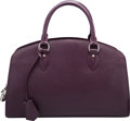 "Luxury Accessories:Bags, Louis Vuitton Cassis Purple Epi Leather Pont Neuf PM Bag.Excellent Condition. 14"" Width x 9"" Height x 5"" Depth. ..."