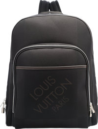 "Louis Vuitton Black Damier Geant Nylon Mesh Neo Bongo Backpack Bag Excellent to Pristine Condition 13.5"" Wid"