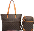 "Luxury Accessories:Bags, Louis Vuitton Set of Two; Classic Monogram Canvas Luco & DanubeBags. Good Condition. 18.5"" Width x 11.5"" Height x 4"" ...(Total: 2 Items)"