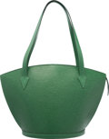 "Luxury Accessories:Bags, Louis Vuitton Borneo Green Epi Leather St. Jacques GM Bag. Goodto Very Good Condition. 17"" Width x 11"" Height x 6.5""..."