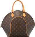 "Luxury Accessories:Bags, Louis Vuitton Classic Monogram Canvas Ellipse MM Bag. Very Good Condition. 10"" Width x 12"" Height x 3"" Depth. ..."