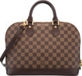 "Luxury Accessories:Bags, Louis Vuitton Damier Ebene Canvas Alma PM Bag. ExcellentCondition. 12.5"" Width x 9.5"" Height x 6"" Depth. ..."
