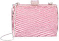 "Luxury Accessories:Bags, Judith Leiber Full Bead Pink Crystal Box Minaudiere Evening Bag.Excellent Condition. 4"" Width x 3"" Height x 1.5""Dept..."