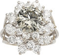 Estate Jewelry:Rings, Fancy Dark Gray Diamond, Diamond, White Gold Ring. ...