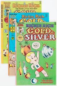 Richie Rich Gold and Silver File Copies Box Lot (Harvey, 1976-82) Condition: Average NM-