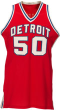 Basketball Collectibles:Uniforms, 1977-79 Ben Poquette Game Worn Detroit Pistons Jersey....