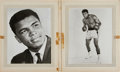 Boxing Collectibles:Autographs, 1964 Muhammad Ali Signed Original Publicity Photographs Lot of 2and Folder....