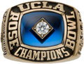 Football Collectibles:Others, 1983 UCLA Bruins Rose Bowl Championship Ring Presented to Offensive Lineman Jim McCullough....