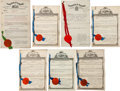 Miscellaneous Collectibles:General, 1910's-30's Sports Equipment Patents Lot of 7....