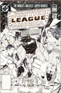 Original Comic Art:Covers, George Perez Justice League of America #192 Cover OriginalArt (DC, 1981)....
