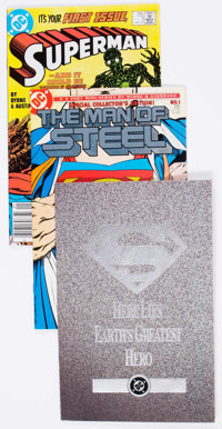 Superman-Related Box Lot (DC, 1986-96) Condition: Average NM-