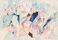 Fine Art - Work on Paper:Watercolor, Jacques Villon (French, 1875-1963). Cubist Composition.Watercolor on paper. 9 x 13 inches (22.9 x 33.0 cm) (sight). Sig...