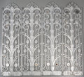 Paintings, A Group of Four Art Deco Silvered Metal Architectural Wall Appliqués, first half 20th century. 39-3/4 inches high (101.0 cm)... (Total: 4 Items)