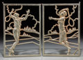 Decorative Arts, Continental, A Pair of Art Deco Chromed Iron Reticulated Wall Plaques, 20thcentury. 9-5/8 inches high x 6-7/8 inches wide (24.4 x 17.5 c...(Total: 2 Items)