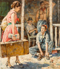 Paintings, James Alfred Meese (American, 1917-1971). The Old Man's Place, paperback cover, 1953. Oil on board. 19.75 x 17.25 in.. S...