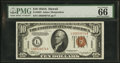 Small Size:World War II Emergency Notes, Fr. 2303 $10 1934A Hawaii Federal Reserve Note. PMG Gem Uncirculated 66 EPQ.. ...