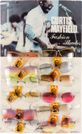 Music Memorabilia:Memorabilia, Curtis Mayfield Fashion Shades and Original Display (1970s)....