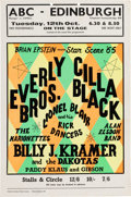 Music Memorabilia:Posters, Everly Brothers/Cilla Black ABC Concert Handbill (UK - BrianEpstein Presents, 1965)....