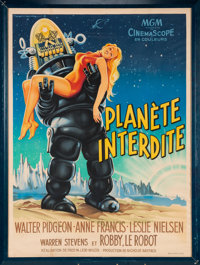 "A Bruce Willis Owned French Movie Poster from ""Forbidden Planet."""