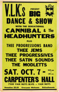 Music Memorabilia:Posters, Cannibal & the Headhunters Carpenter's Hall Concert Poster(circa Mid-1960s)....