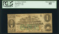 Obsoletes By State:Alabama, Montgomery, AL- State of Alabama $1 Jan .1, 1863 Cr. 1. ...