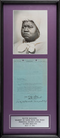 Movie/TV Memorabilia:Autographs and Signed Items, Hattie McDaniel Signed Letter Written To Red Skelton (1942)....