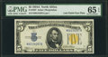 Small Size:World War II Emergency Notes, Fr. 2307 $5 1934A North Africa Silver Certificate with Late Finish Face Plate 307. PMG Gem Uncirculated 65 EPQ.. ...