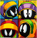 "Animation Art:Color Model, ""Marvin Attitudes"" Marvin the Martian Limited Edition Silkscreen onCanvas Signed by Steve Kaufman #1/100 (1996)...."
