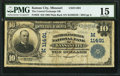 National Bank Notes:Missouri, Kansas City, MO - $10 1902 Plain Back Fr. 632 The Central ExchangeNB Ch. # (M)11491. ...